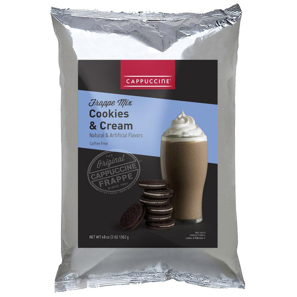 Cappuccine Cookies & Cream Frappe Mix (3 lbs)-Powdered Base-Cappuccine-Carry Out Supplies