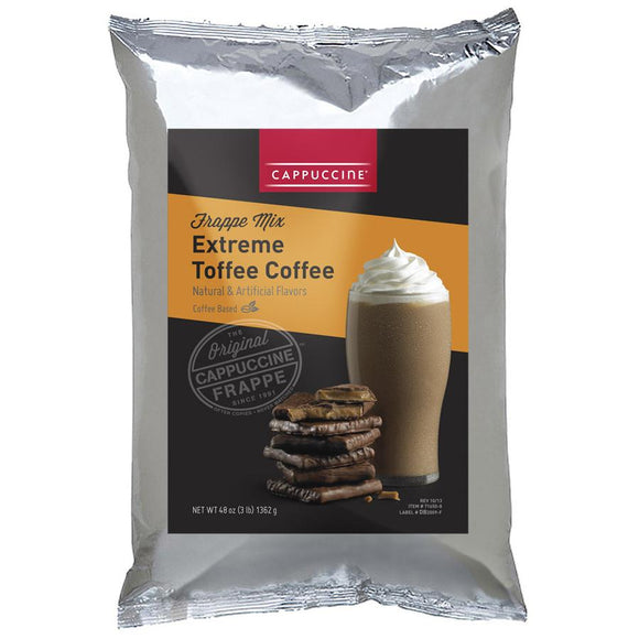 Cappuccine Extreme Toffee Coffee Frappe Mix (3 lbs)-Powdered Base-Cappuccine-Carry Out Supplies