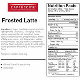 Cappuccine Frosted Latte Frappe Mix (3 lbs)-Powdered Base-Cappuccine-Carry Out Supplies