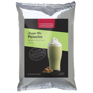 Cappuccine Pistachio Frappe Mix (3 lbs)-Powdered Base-Cappuccine-Carry Out Supplies