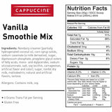 Cappuccine Vanilla Smoothie Mix (3 lbs)-Powdered Base-Cappuccine-Carry Out Supplies
