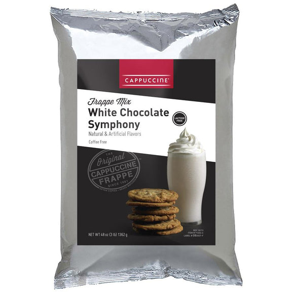 Cappuccine White Chocolate Symphony Frappe Mix (3 lbs)-Powdered Base-Cappuccine-Carry Out Supplies