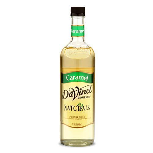Caramel Flavored Natural DaVinci Syrup Bottle - 700mL-Syrups-DaVinci Gourmet-Carry Out Supplies