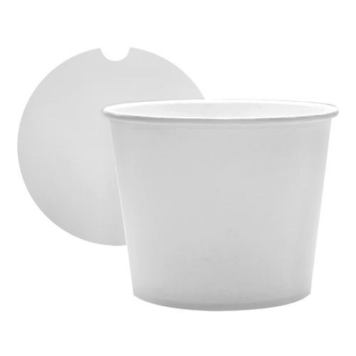 Chicken Bucket 85oz Paper Food Buckets with Lids (189mm) - 180 count-To-Go Packaging-Karat-Carry Out Supplies