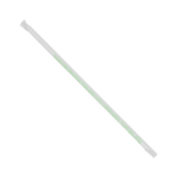 "Clear PLA Straws - Karat Earth 10.25"" Giant PLA Straws (7mm) Paper Wrapped - Clear - 1200 ct-Restaurant Supply Drop"