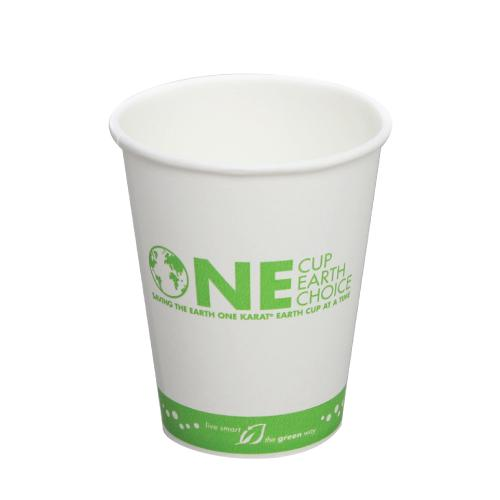 Compostable Coffee Cups - 10oz Eco-Friendly Paper Hot Cups - One Cup, One Earth (90mm) - 1,000 ct-Cups & Lids-Karat-Carry Out Supplies