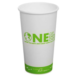 Compostable Coffee Cups - 20oz Eco-Friendly Paper Hot Cups - One Cup, One Earth (90mm) - 600 ct-Cups & Lids-Karat-Carry Out Supplies