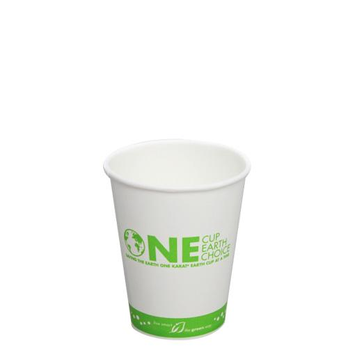 Compostable Coffee Cups - 8oz Eco-Friendly Paper Hot Cups - One Cup, One Earth (80mm) - 1,000 ct-Cups & Lids-Karat-Carry Out Supplies