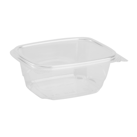 Compostable 16oz Hinged Deli Containers - Eco-Friendly Medium 16 oz Hinged Deli Box - 200 count-Restaurant Supply Drop