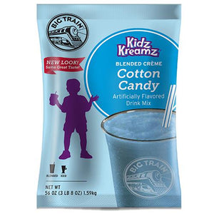 Cotton Candy Kidz Kreamz Frappe - Big Train Mix - Bag 3.5 pounds-Powdered Base-Big Train-Carry Out Supplies