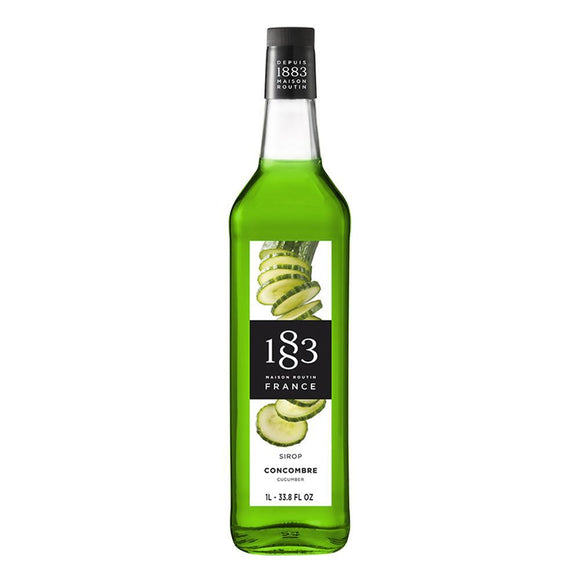 Cucumber Syrup 1883 Maison Routin - 1 Liter Bottle-Syrups-1883 Maison Routin-Carry Out Supplies