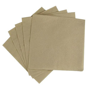 "Custom Printed Napkins 9""x9"" Beverage Napkins - Kraft - 4,000 ct-Custom-Karat-Carry Out Supplies"
