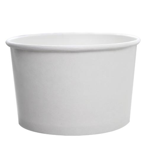 Custom Printed Paper Food Containers - 20oz White (127mm) - 30,000 ct-Custom-Karat-No Lids-1 Color-Carry Out Supplies