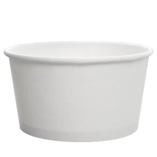 Custom Printed Paper Food Containers - 24oz White (142mm) - 30,000 ct-Custom-Karat-No Lids-1 Color-Carry Out Supplies