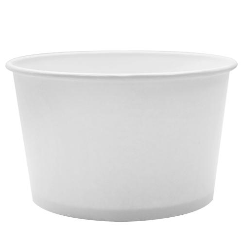 Custom Printed Paper Food Containers - 28oz White (142mm) - 30,000 ct-Custom-Karat-No Lids-1 Color-Carry Out Supplies