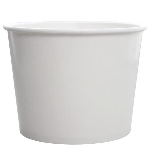 Custom Printed Paper Food Containers - 32oz White (142mm) - 30,000 ct-Custom-Karat-No Lids-1 Color-Carry Out Supplies