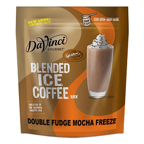 DaVinci Double Fudge Mocha Freeze Blended Ice Coffee Mix (3 lbs) - Formerly Caffe D'Amore-Powdered Base-Big Train-Carry Out Supplies