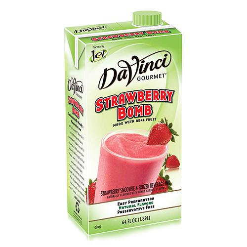 DaVinci Strawberry Bomb Fruit Smoothie Mix (64oz) - Formerly Jet-Liquid Base & Purees-DaVinci Gourmet-Carry Out Supplies