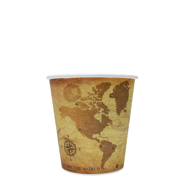 Disposable Coffee Cups - 10oz Paper Hot Cups - Atlas (90mm) - 1,000 ct-Cups & Lids-Karat-No Lids-No Sleeves-Carry Out Supplies