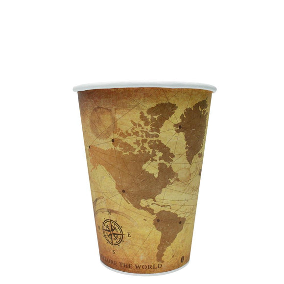 Disposable Coffee Cups - 12oz Paper Hot Cups - Atlas (90mm) - 1,000 ct-Cups & Lids-Karat-No Lids-No Sleeves-Carry Out Supplies