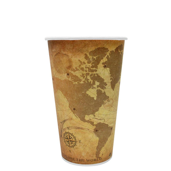 Disposable Coffee Cups - 16oz Paper Hot Cups - Atlas (90mm) - 1,000 ct-Cups & Lids-Karat-No Lids-No Sleeves-Carry Out Supplies