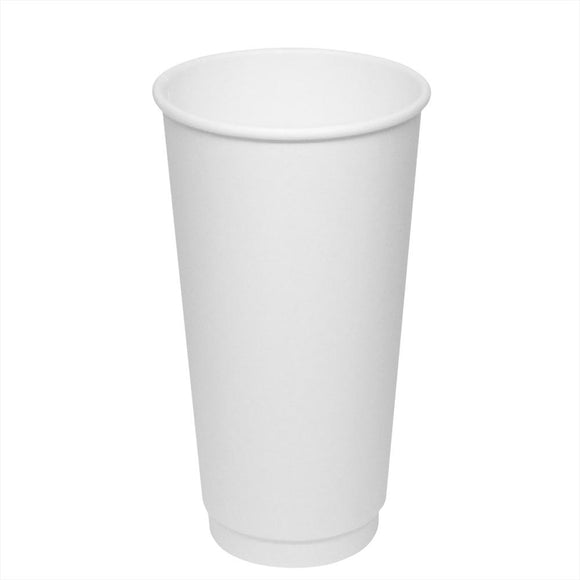 Disposable Coffee Cups - 20oz Insulated Paper Hot Cups - White (90mm) - 300 ct-Cups & Lids-Karat-No Lids-No Sleeves-Carry Out Supplies