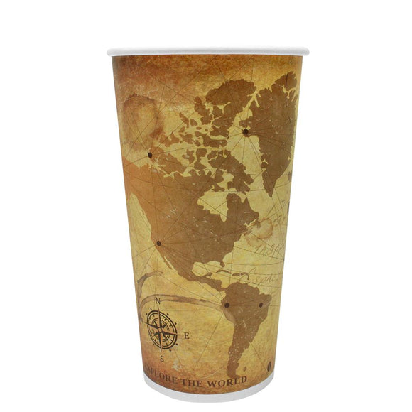 Disposable Coffee Cups - 20oz Paper Hot Cups - Atlas (90mm) - 600 ct-Cups & Lids-Karat-No Lids-No Sleeves-Carry Out Supplies