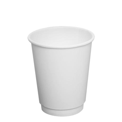 Disposable Coffee Cups - 8oz Insulated Paper Hot Cups - White (80mm) - 500 ct-Cups & Lids-Karat-Carry Out Supplies