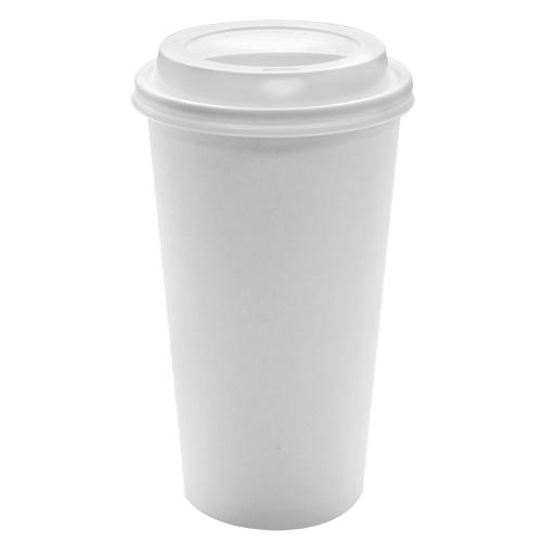 Disposable Paper Coffee Cups with Lids - 20 oz + White Dome Sipper Lids (90mm)-Cups & Lids-Karat-Carry Out Supplies
