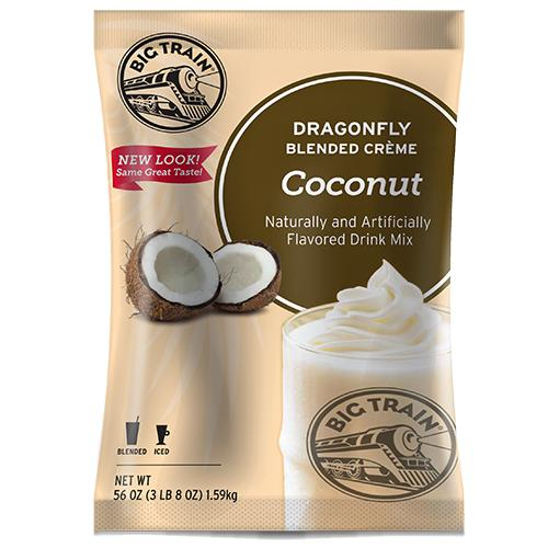 Dragonfly Coconut Blended Creme Frappe - Big Train Mix - Bag 3.5 pounds-Powdered Base-Big Train-Carry Out Supplies