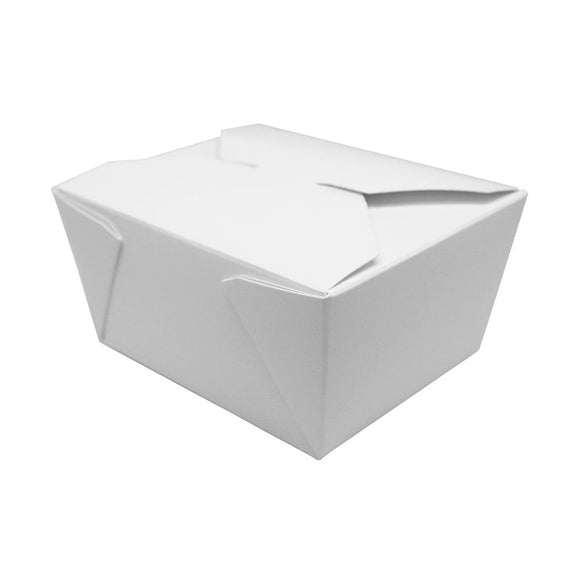 Fold-To-Go Box 30oz Carry Out Container #1 - White - 450 count-To-Go Packaging-Karat-Carry Out Supplies