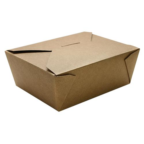 Fold-To-Go Box 48oz Carry Out Container #8 - Kraft - 300 count-To-Go Packaging-Karat-Carry Out Supplies