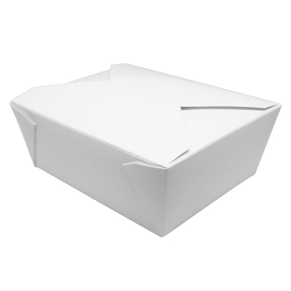 Fold-To-Go Box 48oz Carry Out Container #8 - White - 300 count-To-Go Packaging-Karat-Carry Out Supplies