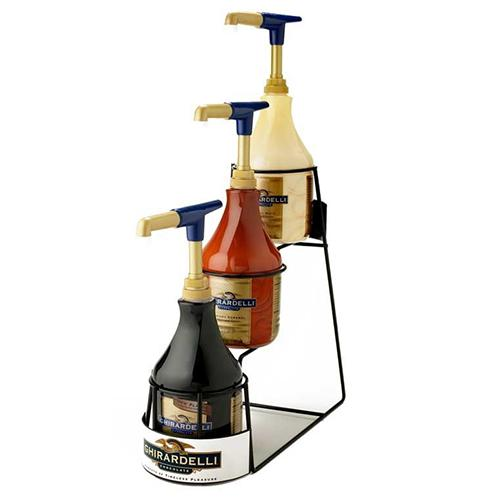 Ghirardelli 3-Tier 64oz Sauce Rack-Sauces-Ghirardelli-Carry Out Supplies