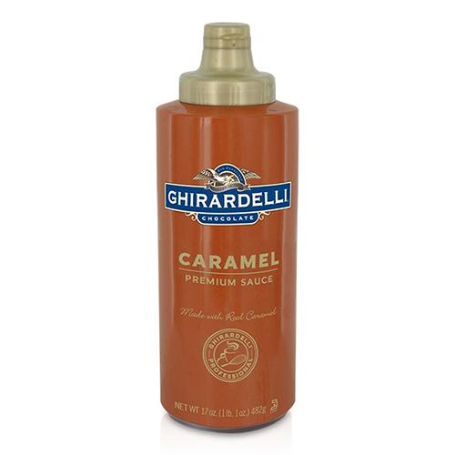 Ghirardelli Caramel Flavored Sauce Squeeze Bottle (16oz)-Sauces-Ghirardelli-Carry Out Supplies