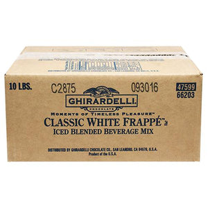 Ghirardelli Classic White Frappe (10 lbs)-Powdered Base-Ghirardelli-Carry Out Supplies