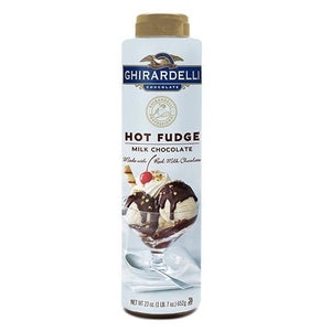 Ghirardelli Milk Chocolate Hot Fudge (23 oz)-Sauces-Ghirardelli-Carry Out Supplies