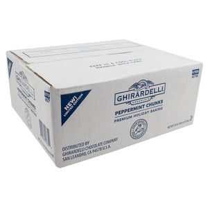 Ghirardelli Peppermint Chunks (10lbs)-Chips & Chunks-Ghirardelli-Carry Out Supplies