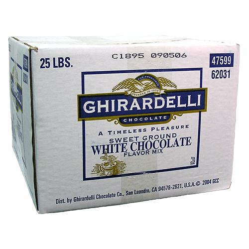 Ghirardelli Sweet Ground White Chocolate Flavored Powder (25 lbs)-Powdered Base-Ghirardelli-Carry Out Supplies