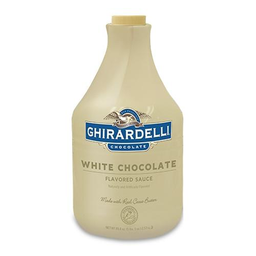 Ghirardelli White Chocolate Flavored Sauce (64 fl oz)-Sauces-Ghirardelli-Carry Out Supplies