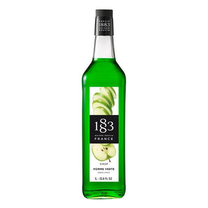 Green Apple Syrup 1883 Maison Routin - 1 Liter Bottle-Syrups-1883 Maison Routin-Carry Out Supplies