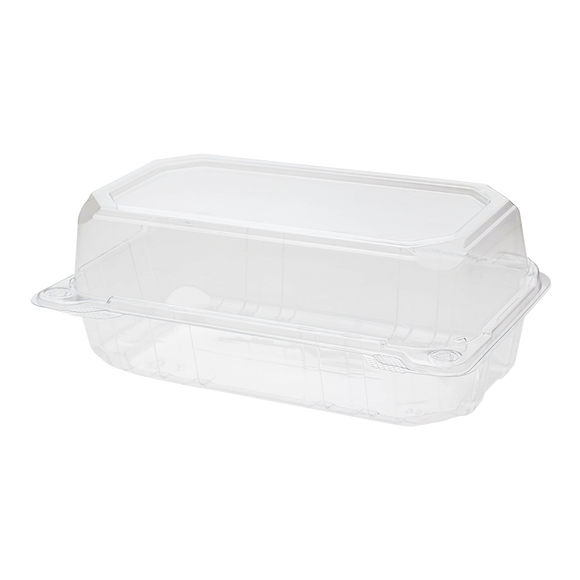 9x5 Hinged Containers - Half Clamshell Takeout Boxes - Karat PET Plastic - 250 ct-To-Go Packaging-Karat-Restaurant Supply Drop