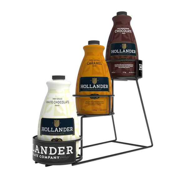 Hollander 3 Tier Wire Sauce Rack (for 64 oz bottles)-Sauces-Hollander-Carry Out Supplies
