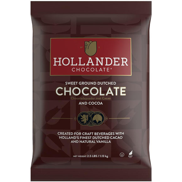 Hollander Sweet Ground Dutched Cocoa & Chocolate Powder (2.5 lbs)-Powdered Base-Hollander-Carry Out Supplies