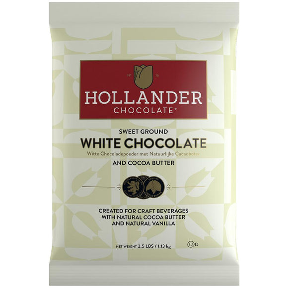 Hollander Sweet Ground White Chocolate Powder (2.5 lbs)-Powdered Base-Hollander-Carry Out Supplies