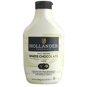 Hollander Sweet Ground White Chocolate Sauce (14 fl oz)-Sauces-Hollander-Carry Out Supplies