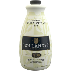 Hollander Sweet Ground White Chocolate Sauce (64 fl oz)-Sauces-Hollander-Carry Out Supplies