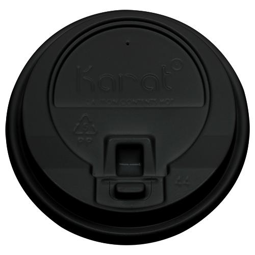 Karat 10-24oz Enclosure Lids - Black (90mm) - 1,000 ct-Cups & Lids-Karat-Carry Out Supplies