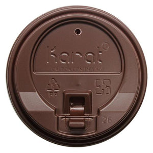 Karat 10-24oz Enclosure Lids - Brown (90mm) - 1,000 ct-Cups & Lids-Karat-Carry Out Supplies