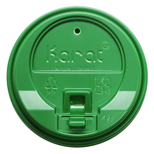 Karat 10-24oz Enclosure Lids - Green (90mm) - 1,000 ct-Cups & Lids-Karat-Carry Out Supplies